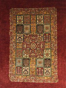 Bachtiari, extrafein, Wolle auf Baumwolle