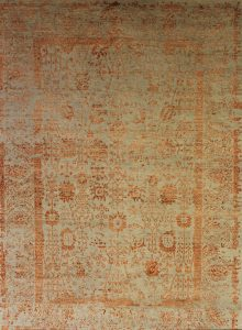 Design-Teppich Mahestan, modern, Wolle mit Bambusseide