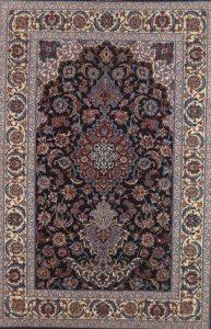 Isfahan, extrafein, mit Seide auf Seide