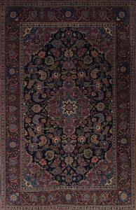 persischer Keschan alt, Wolle auf Baumwolle